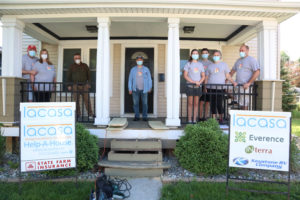 Group led by State Farm agent Scott Roth, completed exterior yard work at a Goshen home as part of Lacasa's 30th Annual Help-A-House program