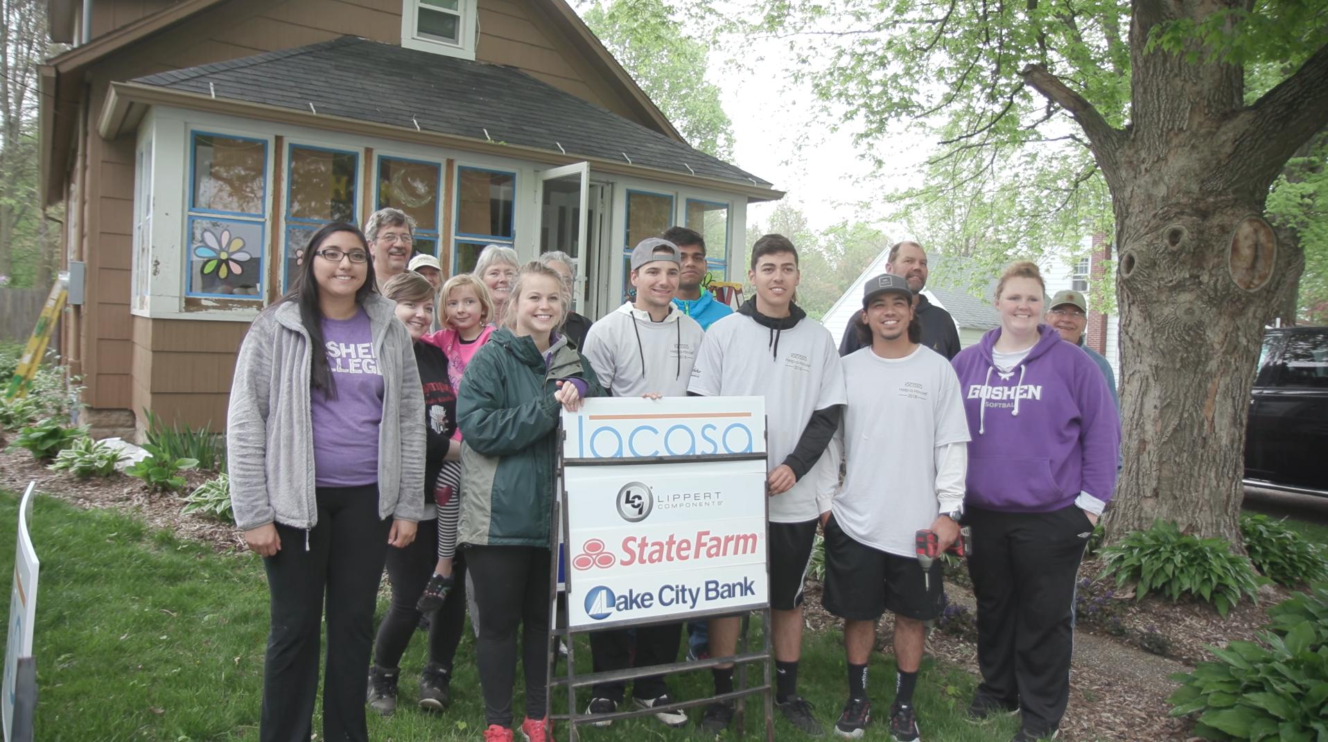 Lacasa volunteers complete home